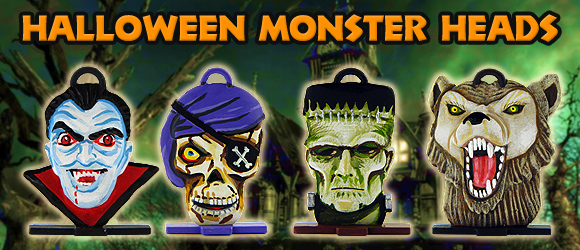 New Halloween Monster head banner