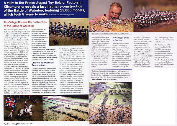 The Opinion Magazine December 2015 article on the Toy Soldier Factory.