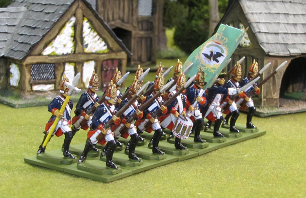 Seven Years' War 40mm scale semi-flat soldiers