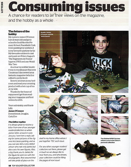 Toy Soldier Collector magazine - James O'Connor.