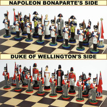 54mm Pewter Battle of Waterloo Chess Set Hand Painted.