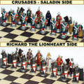 The Crusades Chess Set - Hand Painted