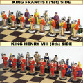 54mm Pewter Renaissance Chess Set Hand Painted