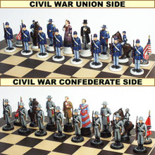 The American Civil War Chess Set - Hand Painted