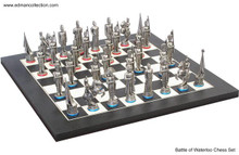 Battle of Waterloo Chess Set Antique Finish