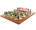 Roaring 20's Golf Chess Set - Hand Painted. Board is an optional extra.