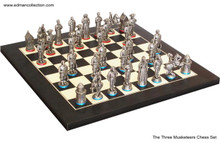 The Three Musketeers chess set - The king's Musketeers & Cardinal's Musketeers.