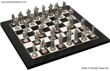 The Battle of Clontarf Chess Set Antique Finish