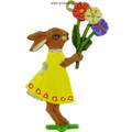 Easter Decoration Mould - Bunny with Spring Flowers