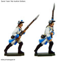PA3105 Austrian Fusiliers advancing and march-attack figures