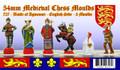 Medieval Chess Set: English Side