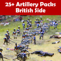 25+ Artillery Pack British Cannon & Crew