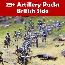 25+ Artillery Pack British Cannon & Crew