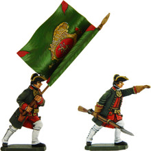 Seven Years War Russian Standard Bearer and Infantry Officer