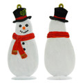 Christmas Snowman with Top Hat Decoration