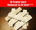 10 pewter bars of metal