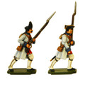 PA3113 Seven Years War France: Infantry Fusiliers and Grenadier in full coat.