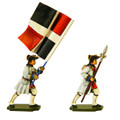 PA3116 Seven Years War France: Infantry NCO and Standard Bearer