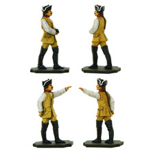 PA3118 Seven Years War Artillery: Officer and Crewman carrying round.