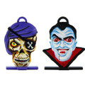Pirate Skeleton and Vampire Halloween heads