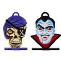 Pirate Skeleton and Vampire Halloween heads