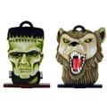 Halloween Frankenstein Monster and Werewolf heads