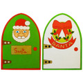 Wooden Christmas Doors if painted.