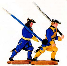 Karoliner Officer and Musketeer