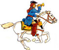 Karoliners Cavalry trumpeter