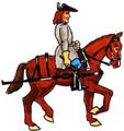 Artillery Man on horse