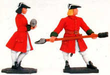 Irish Wild Geese Gunner carrying round & ramrod
