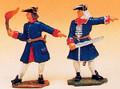 French Regiments 2 Artillery Men - Portfire & Officer