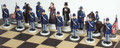 American Civil War Chess Set: Union side