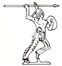 Indian ( Native American ) throwing spear