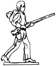 Cowboy walking with gun