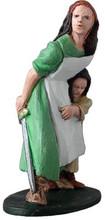 Viking woman and child