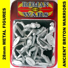 Roman Wars - Briton Warriors with swords and spears cast figures x8