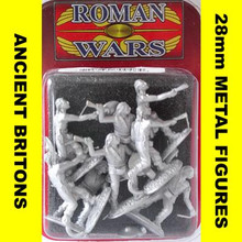 Roman Wars- Briton Warriors with slings cast figures x8