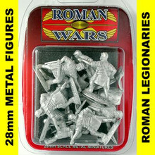 Roman Wars - Roman Legionaries with sword x8 cast figures