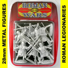 Roman Wars - Roman Legionaries with short javelin x8 cast figures