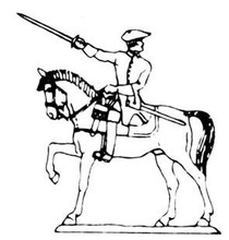18th Century Cavalry Man with sword up