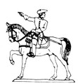 18th Century Cavalry Man pointing