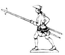 18th Century Pikeman standing