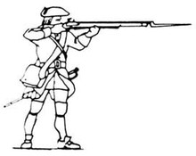 18th Century Musketeer shooting standing