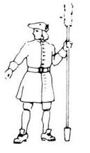 18th Century Artillery Man with ramrod