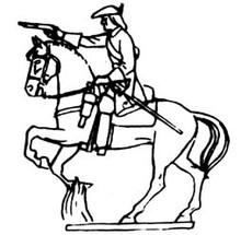18th Century Cavalry firing pistol