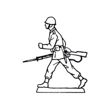 40mm Scale Holger Eriksson's Walking solder, holding rifle Mould