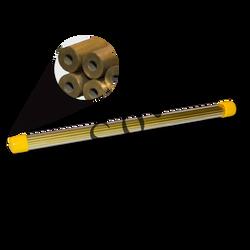 "Brass Single Channel EDM Tubes - 400mm (16"") (70114)"