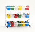 Copernicus BB005-18 Book Browser Cart with 18 Small Tubs
