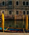 Columns, Boat and Wall